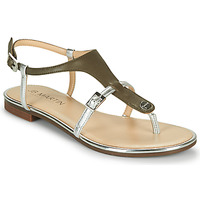 Chaussures Fille Sandales et Nu-pieds JB Martin 2GAELIA Kaki / Argenté