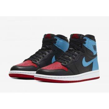 Chaussures Baskets montantes Nike Air Jordan 1 High Unc to Chicago  Dark Powder Blue/Gym Red-Black-White