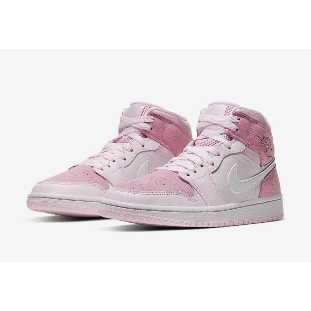Air Jordan 1 Mid WMNS Digital Pink