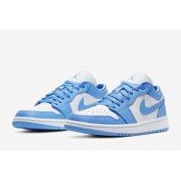 Chaussures Baskets basses Nike Air Jordan 1 Low Univeristy Blue University Blue/White