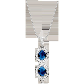 Montres & Bijoux Femme Colliers / Sautoirs Cleor Collier  en Argent 925/1000 et Oxyde Blanc