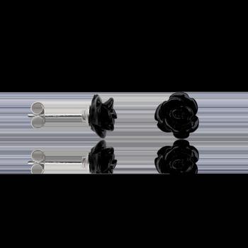 Montres & Bijoux Femme Boucles d'oreilles Cleor Boucles d'oreilles  en Argent 925/1000 et Onyx Blanc