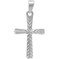 Montres & Bijoux Pendentifs Cleor Croix  en Or 375/1000 Blanc Blanc