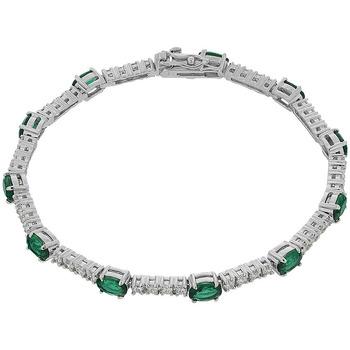 Montres & Bijoux Femme Bracelets Cleor Bracelet  en Argent 925/1000 et Oxyde Multicolore Blanc