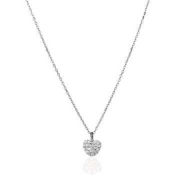 Montres & Bijoux Femme Colliers / Sautoirs Cleor Collier  en Argent 925/1000 et Cristal Blanc