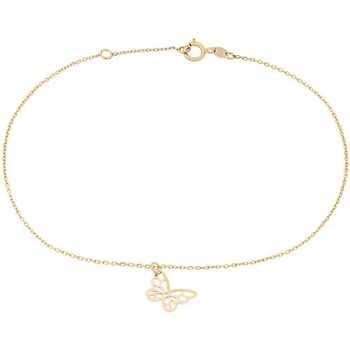 Montres & Bijoux Femme Bracelets Cleor Chaîne de Cheville  en Or 375/1000 Jaune Jaune