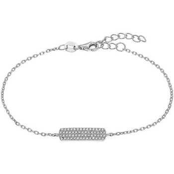 Montres & Bijoux Femme Bracelets Square Bracelet  en Argent 925/1000 et Oxyde Gris