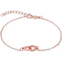 Montres & Bijoux Femme Bracelets Cleor Bracelet  en Argent 925/1000 Rose et Oxyde Rose