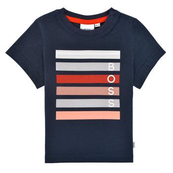 Vêtements Garçon T-shirts manches courtes BOSS ENOLITO Marine