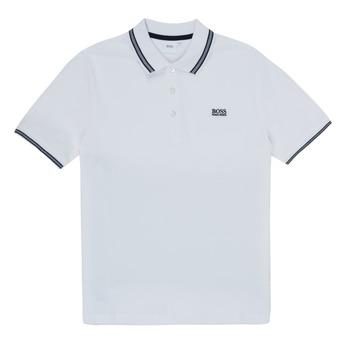 Vêtements Garçon Polos manches courtes BOSS TONNELA Blanc
