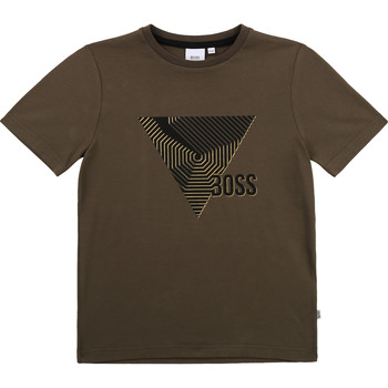 Vêtements Garçon T-shirts manches courtes BOSS SIMEO Kaki