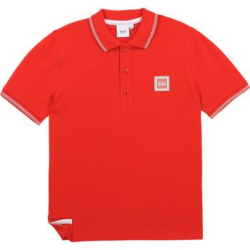 Vêtements Garçon Polos manches courtes BOSS BARBORA Rouge