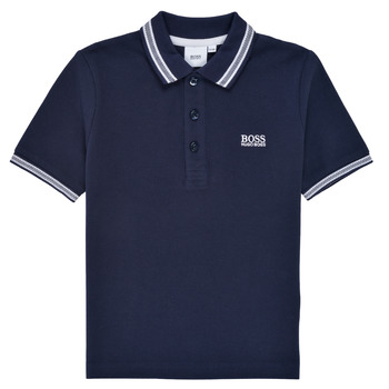 Vêtements Garçon Polos manches courtes BOSS TONNELA Marine