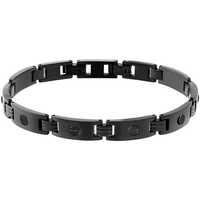 Montres & Bijoux Homme Bracelets Cleor Bracelet  en Acier Noir Noir