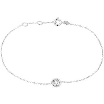 Montres & Bijoux Femme Bracelets Cleor Bracelet  en Argent 925/1000 et Oxyde Blanc