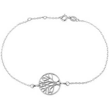 Montres & Bijoux Femme Bracelets Cleor Bracelet  en Argent 925/1000 Blanc