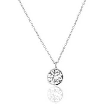 Montres & Bijoux Femme Colliers / Sautoirs Cleor Collier  en Or 375/1000 Blanc et Oxyde Blanc