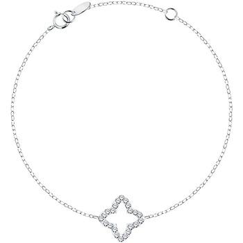 Montres & Bijoux Femme Bracelets Cleor Bracelet  en Argent 925/1000 et Cristal Blanc