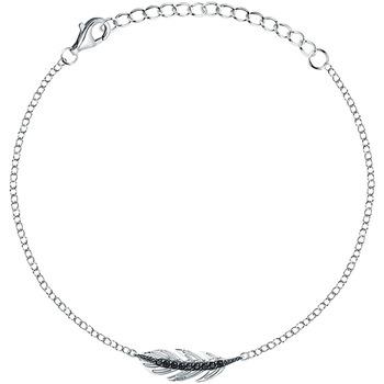 Montres & Bijoux Femme Bracelets Cleor Bracelet  en Argent 925/1000 et Oxyde Noir Blanc