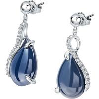 Montres & Bijoux Femme Boucles d'oreilles Bleue Joaillerie Boucles d'oreilles  en Céramique et Oxyde Blanc