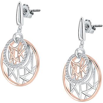 Montres & Bijoux Femme Boucles d'oreilles Cleor Boucles d'oreilles  en Argent 925/1000 Bicolore et Oxyde Blanc