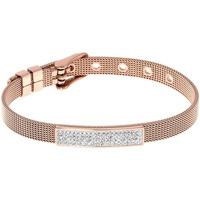 Montres & Bijoux Femme Bracelets Les Etincelantes Bracelet  en Acier Rose et Cristal Rose