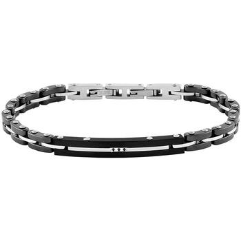 Montres & Bijoux Bracelets Zephyr Bracelet  en Céramique Noire, Acier et Oxyde Noir