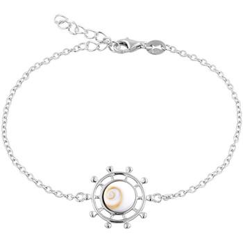 Montres & Bijoux Femme Bracelets Cleor Bracelet  en Argent 925/1000 et Œil De Sainte Lucie Blanc