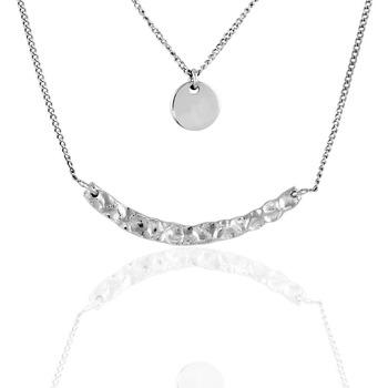 Montres & Bijoux Femme Colliers / Sautoirs Cleor Collier  en Argent 925/1000 Blanc