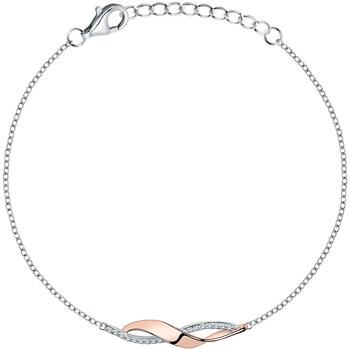 Montres & Bijoux Femme Bracelets Square Bracelet  en Argent 925/1000 Bicolore et Oxyde Gris