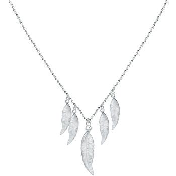 Montres & Bijoux Femme Puces En Or 375/1000 Blanc Cleor Collier  en Argent 925/1000 Blanc