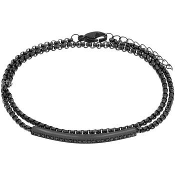 Montres & Bijoux Bracelets Zephyr Bracelet  en Acier Noir Gris