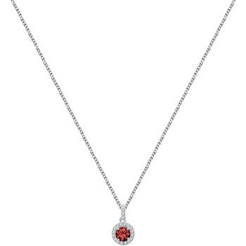 Montres & Bijoux Femme Colliers / Sautoirs Cleor Collier  en Argent 925/1000 et Oxyde Rouge Blanc