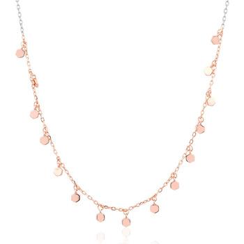 Montres & Bijoux Femme Colliers / Sautoirs Cleor Collier  en Argent 925/1000 Rose Rose