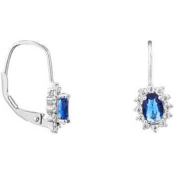 Montres & Bijoux Femme Boucles d'oreilles Cleor Boucles d'oreilles  en Argent 925/1000 et Oxyde et Verre Blanc