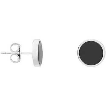 Montres & Bijoux Femme Boucles d'oreilles Cleor Boucles d'oreilles  en Argent 925/1000 et Verre Noir Blanc