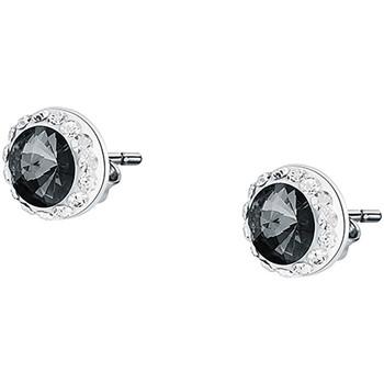 Montres & Bijoux Femme Boucles d'oreilles Cleor Puces  en Argent 925/1000 et Cristal Gris Blanc