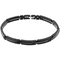 Montres & Bijoux Bracelets Cleor Bracelet  en Acier Noir Noir