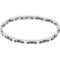 Montres & Bijoux Bracelets Zephyr Bracelet  en Acier et Céramique Bleu Gris