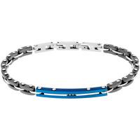 Montres & Bijoux Bracelets Zephyr Bracelet  en Acier et Céramique Noir Gris