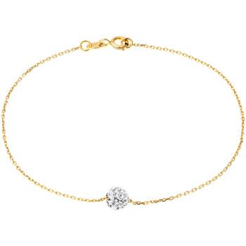 Montres & Bijoux Femme Bracelets Cleor Bracelet  en Argent 925/1000 Jaune et Cristal Jaune