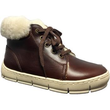 Chaussures Garçon Bottes de neige Pom d'Api Start top fur marron