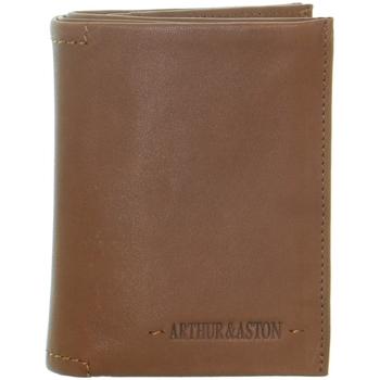 Sacs Homme Portefeuilles Arthur & Aston Portefeuille Arthur et Aston en cuir ref_51180 B C marron