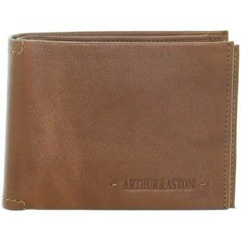 Sacs Homme Portefeuilles Arthur & Aston Portefeuille Arthur et Aston en cuir ref_51181 B C Marron