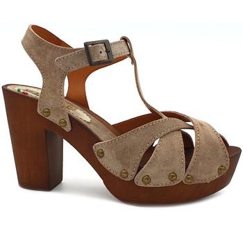 Chaussures Femme Sandales et Nu-pieds Gioie Italiane G365 Beige