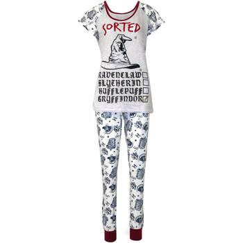 Vêtements Femme Pyjamas / Chemises de nuit Harry Potter  Violet / blanc