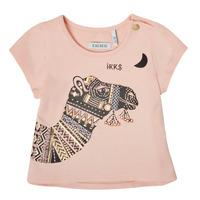 Vêtements Fille T-shirts manches courtes Ikks SOLITA Rose