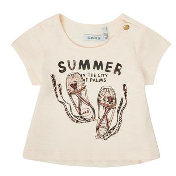 Vêtements Fille T-shirts manches courtes Ikks THELIA Blanc