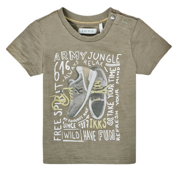 Vêtements Garçon T-shirts manches courtes Ikks FRONI Kaki
