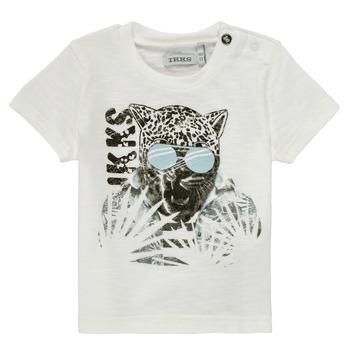 Vêtements Garçon T-shirts manches courtes Ikks USURA Blanc